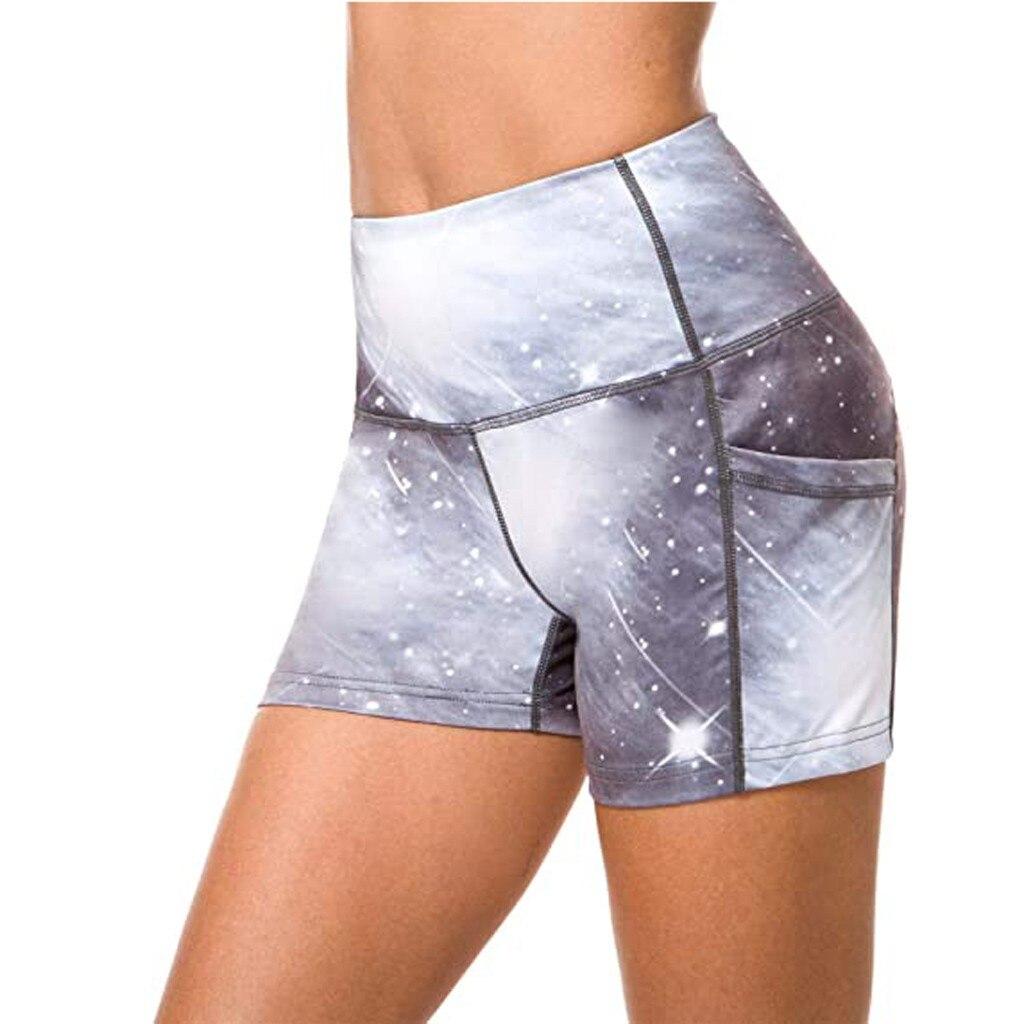 Pantalones cortos de Yoga ropa de gimnasio señoras Fitness verano Spandex Lulu bolsillo pantalones cortos deportivos para mujeres apretado corto Leggings de entrenamiento #4