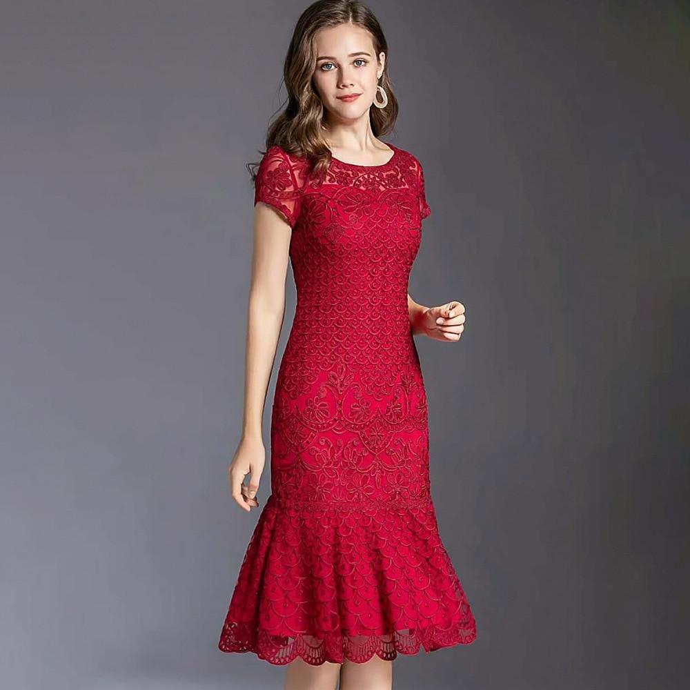 امرأة حفلة ليلة فستان أنيق المرأة لحفل الزفاف العلامة التجارية مصمم M-4XL حجم كبير فساتين للنساء البوق شير فساتين