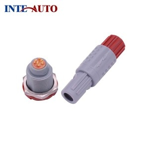 4 core/pins 1P Medical Plastic Circular Push-Pull Connector Male Plug Fixed female receptacle 40 60 80 degree