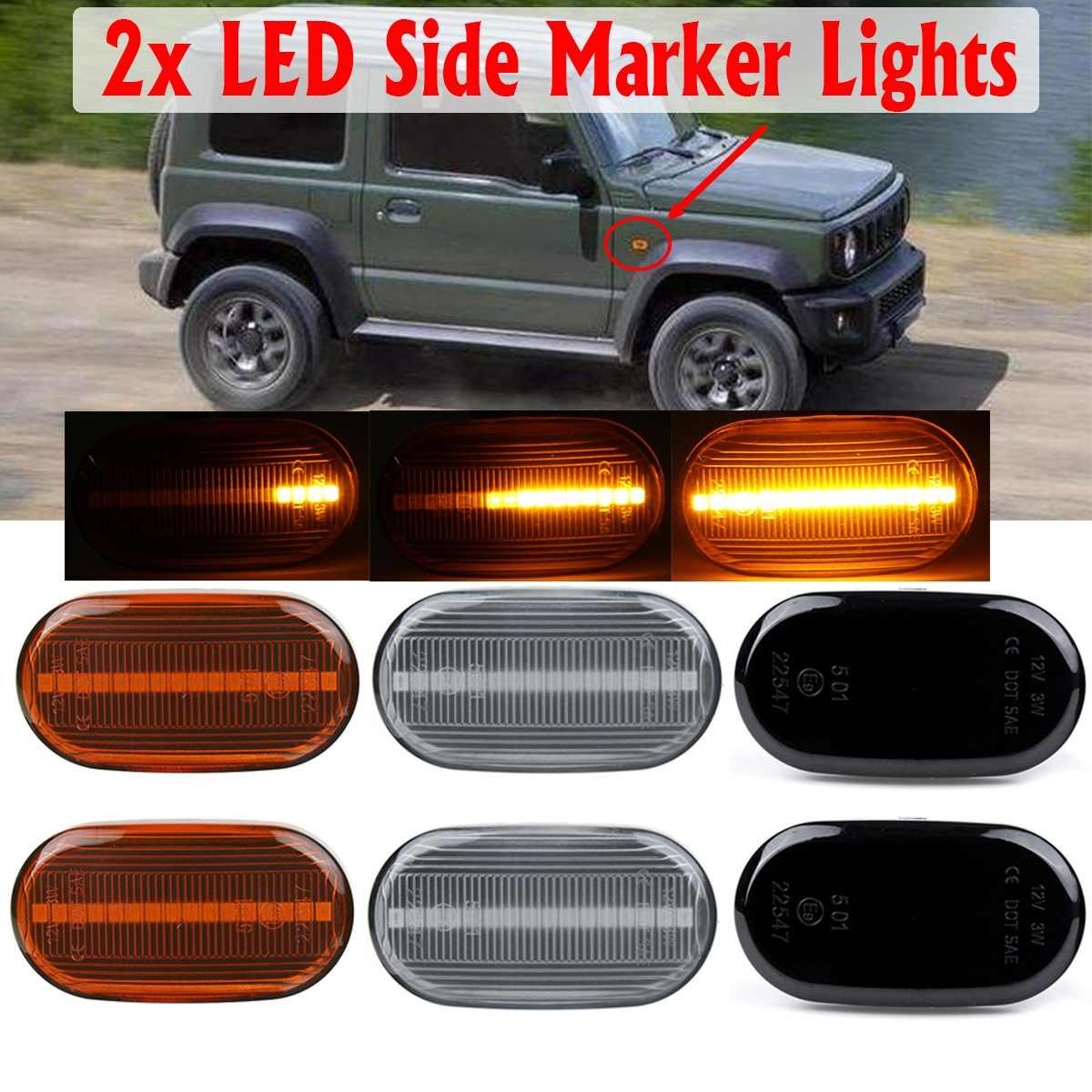 Par led marcador lateral fluindo sinal de volta lâmpada dinâmica blinker para suzuki jimny b64w jb74 jb23 jb64 para mazda spiano hf21s