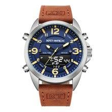 KT Luxus Uhr Männer 2020 Top Marke Leder Uhren Mann Quarz Analog Digital Wasserdicht Armbanduhr Große Uhr Uhr Klok KT1818