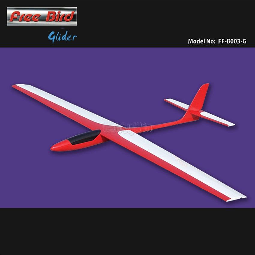 Kit de parapente de pájaros gratis de 1450mm sin fuselaje de fibra de vidrio y alas cubiertas de película modelo RC Sailplane Unpower