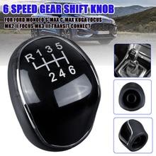 Pommeau de levier de vitesse, 6 vitesses, pour Ford/Mondeo Mk3 Mk4 IV 4/Focus Mk2 Mk3 III/s-max/c-max Kuga/Galaxy Mk2 Mk3