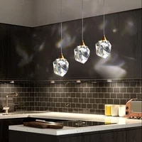 jiamen europe luxury crystal pendant light modern led hanging lamp for home bedroom living room kitchen restaurant decor fixture