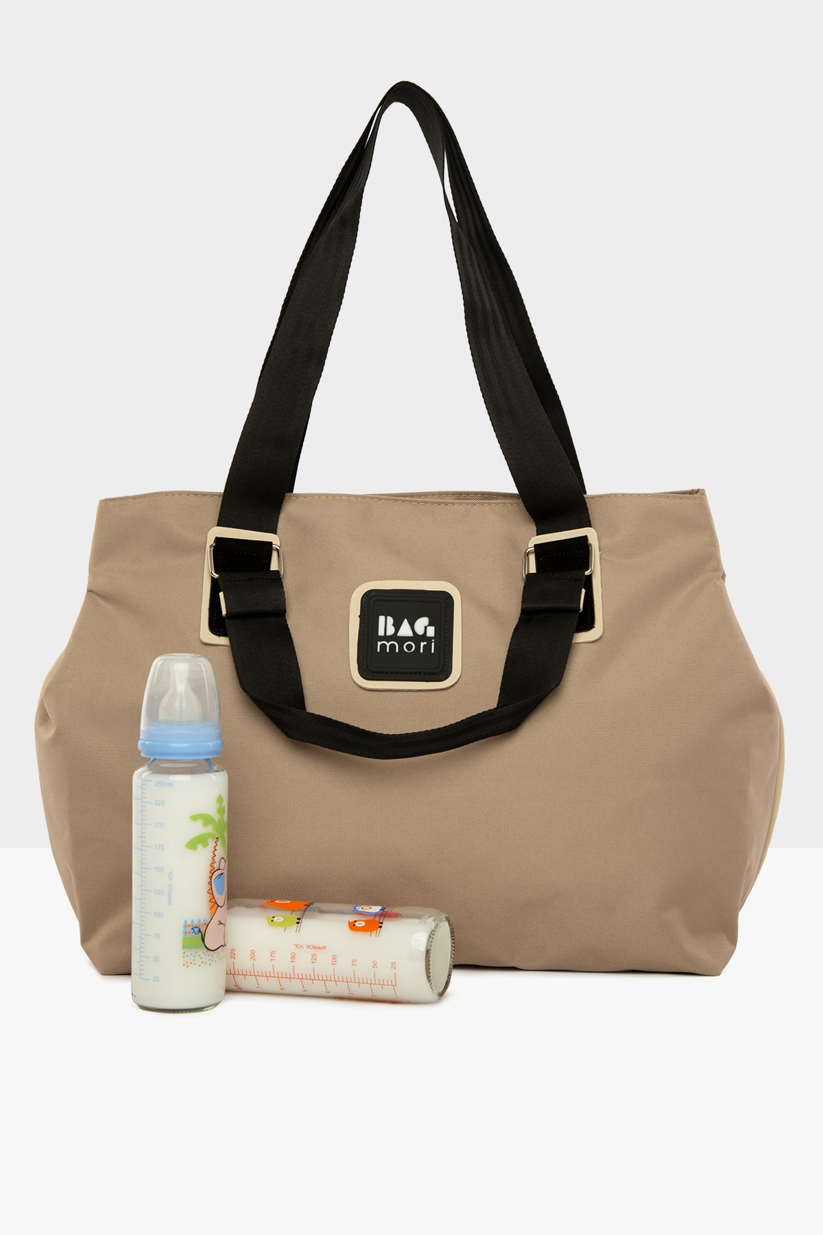 Mink Women's Garnished Mother Baby Care Bag with Snap Fastener for mom lunch bag for kids breast pum