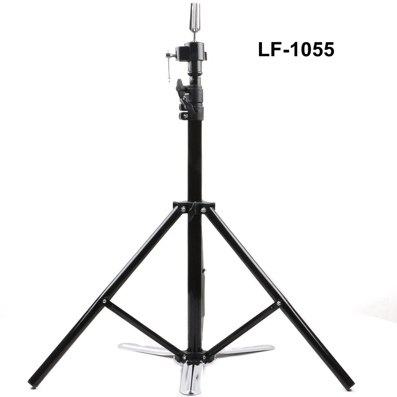 1pcs blue color hair salon adjustable aluminum tripod stand mannequin training head holder wig stand clamp 1pcs Salon Adjustable Tripod Stand Hairdressing Training Wig Mannequin Head Holder Clamp Hair Styling Practice Accessory Tools