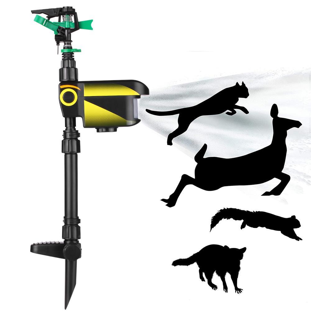 Outdoor Solar Powered Motion Activated Animal Bird Mouse Repellent Garden Lawn Sprinkler Garden Supplies