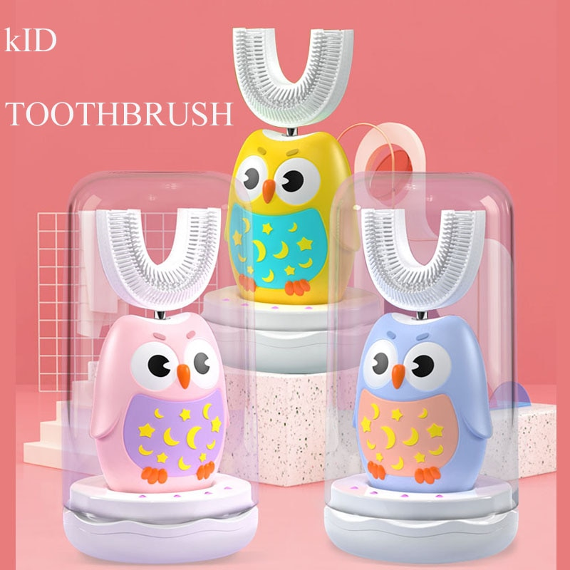 Smart U shaped Kid Sonic Electric Toothbrush 360 degree uv self-cleaning Automatic soft sonic children electric brush toothbrush