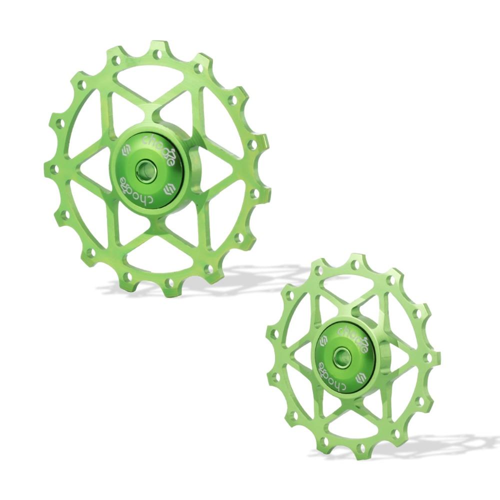 Poleas desviadoras traseras para bicicleta de montaña, cojinetes de cerámica de 13 T/15T, cambio de marchas con poleas