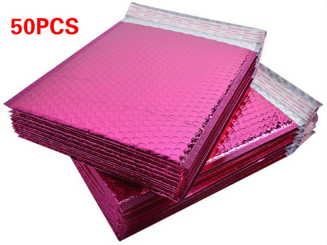 15*13CM RoseRed Papier Blase Umschläge Taschen Werbungen Aufgefüllte Versand Umschlag Mailing Kunststoff Tasche Weihnachten Paket Geschenk Halter
