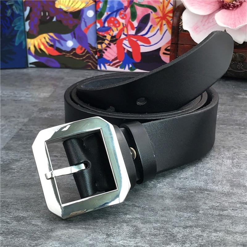 Hebilla de cinturón de acero inoxidable calidad cinturón de hombre súper grueso cuero genuino Ceinture hombres cinturón de cuero cinturón ancho SBT0004