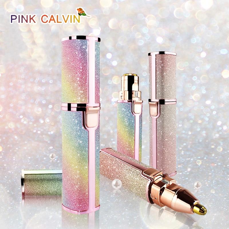 Electric Epilator Eyebrow Trimmer Female Body Facial Lipstick Shape Hair Removal USB Rechargeable Portable Eyebrow Razor enlarge