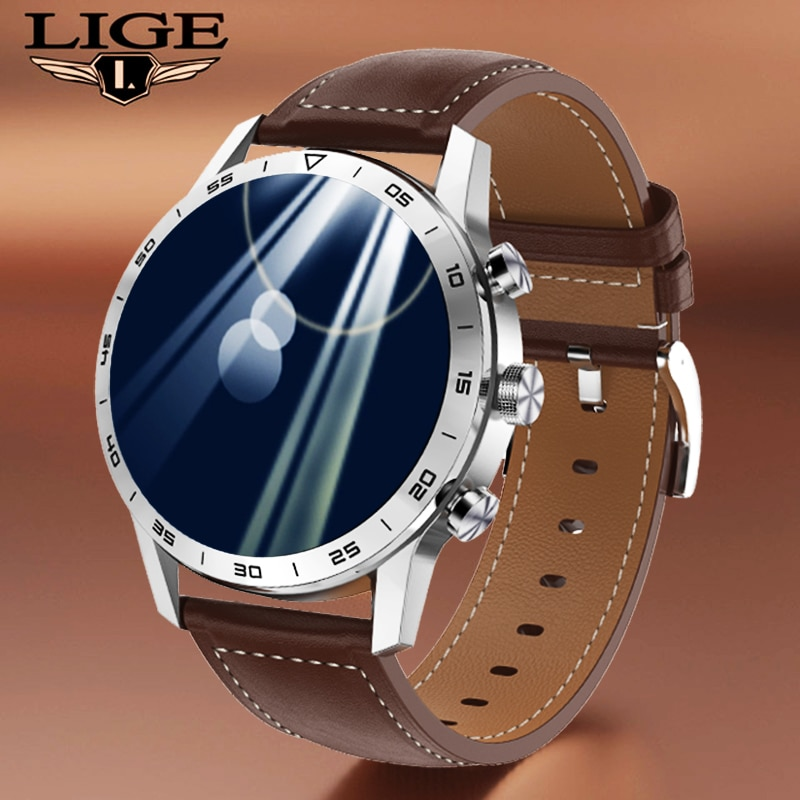 LIGE New smartwatch Men Women Heart Rate Monitor Sport Fitness Bracelet Bluetooth Calls Dial Music S
