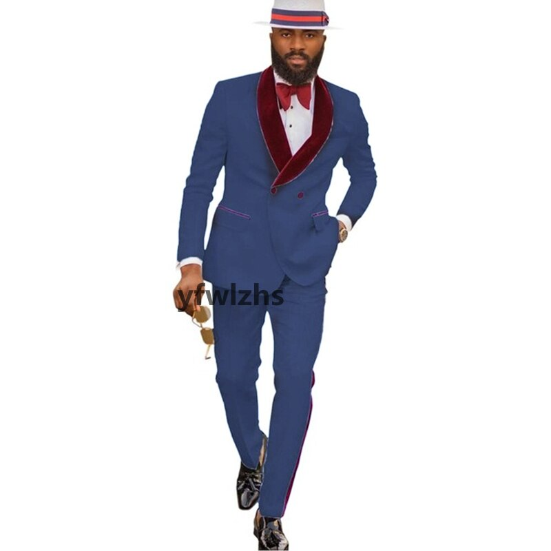New Arrival Embossing Groomsmen Shawl Lapel Groom Tuxedos Men Suits Wedding/Prom Best Blazer ( Jacket+Pants+Tie) D14