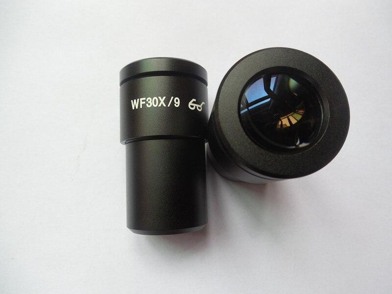 مجهر ستيريو WF30X ، عدسة بزاوية عريضة عالية العين ، مجال رؤية 9 مللي متر ، واجهة 30 مللي متر ، عدسة عالية الطاقة