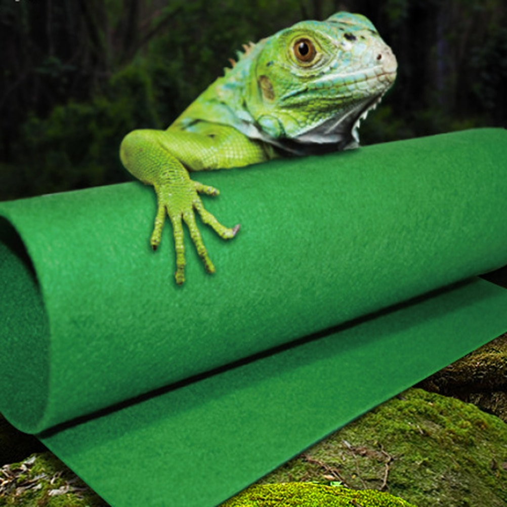 Waterproof Reptile Cushion Moisture-proof Mat Warm Tortoise Pad Pet Sleeping Cushion Green Felt Rept