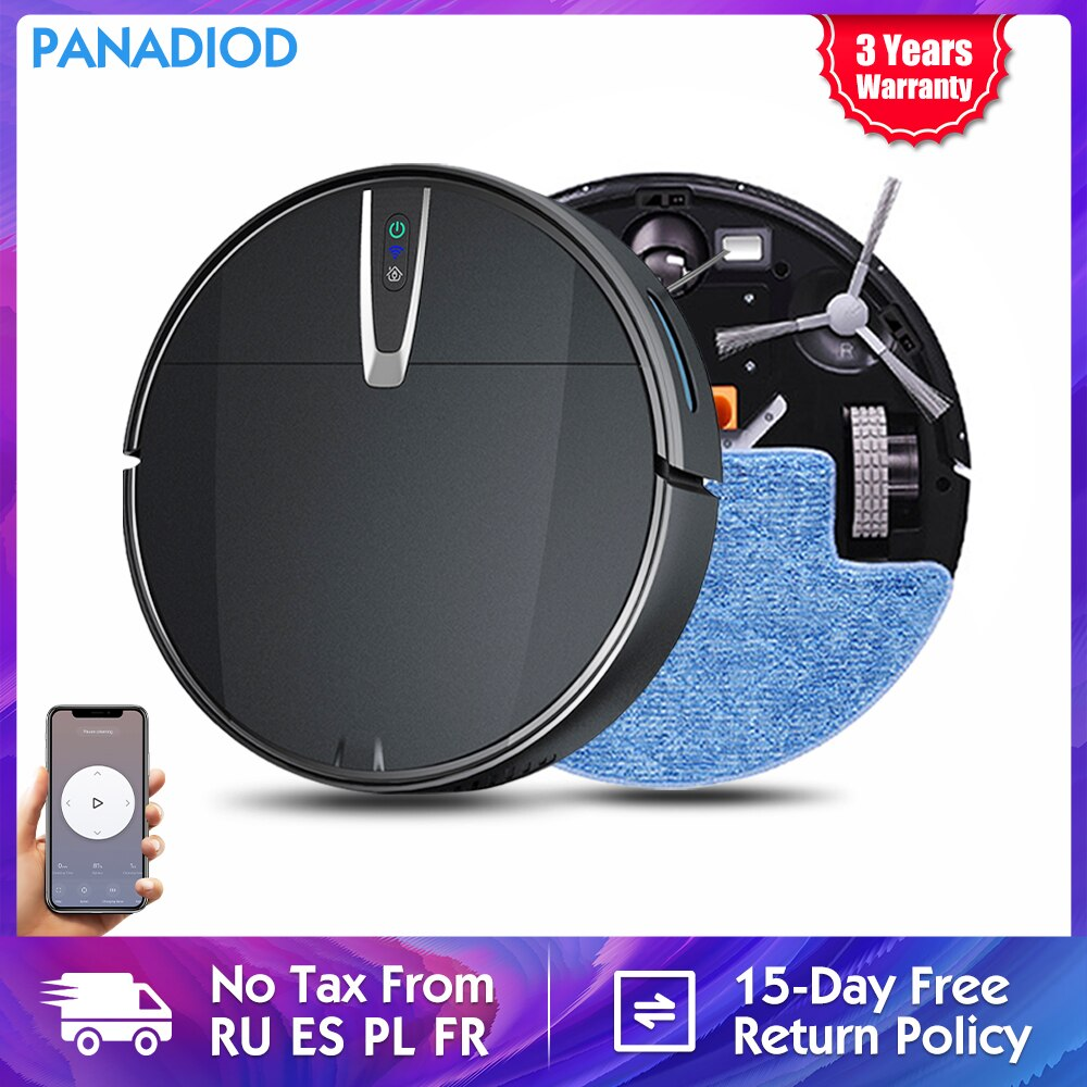 Robot Vacuum Cleaner 3200Pa Strong Suction Intelligent Mopping Dry Wet Cleaning Automatic Recharge APP Remote Control