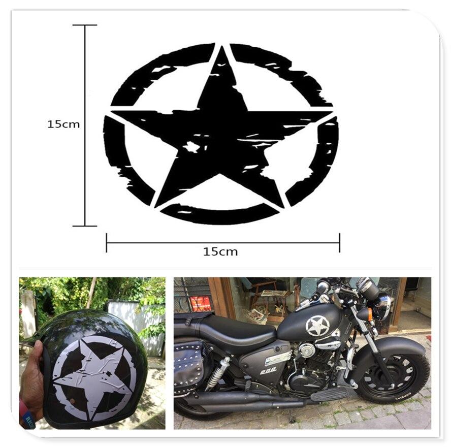 Motocross estilo estrela do exército decalques da motocicleta adesivos de vinil para yamaha r6s eua bt1100 bulldog xjr400 1300 racer 400r