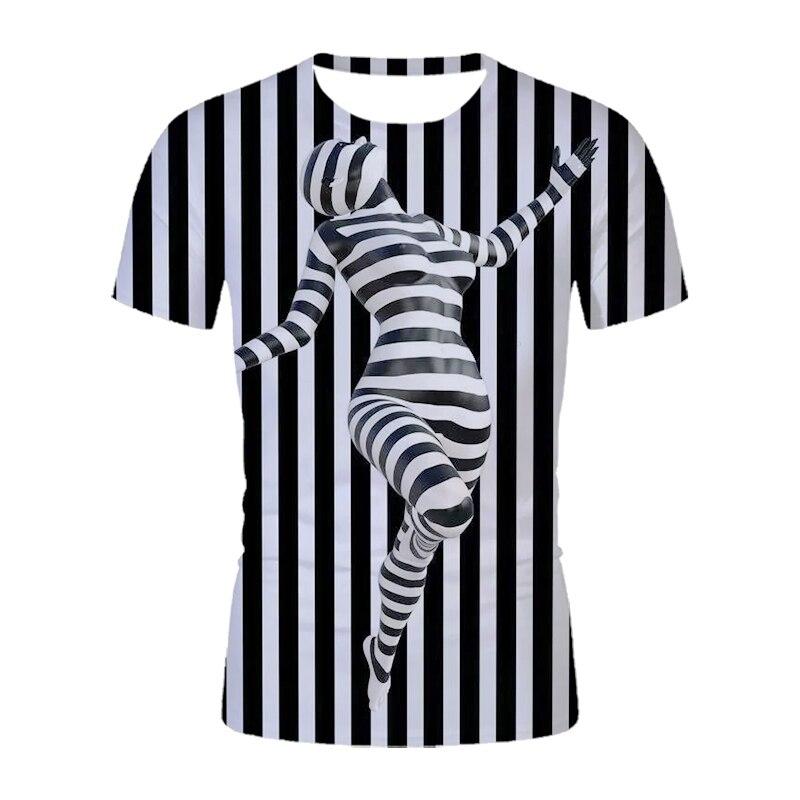 Модные черно-белые топы для женщин рубашка 3D сексуальная девушка печать футболки женские летние футболки с короткими рукавами на каждый де...