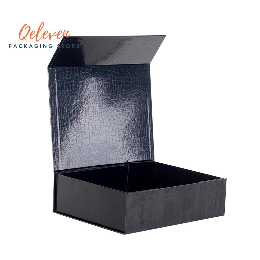 Varejo 100 pces impressão personalizada cartão dobrável rígida caixa fechamento magnético 4 cores embalagens perucas de cabelo cosméticos caixa de presente
