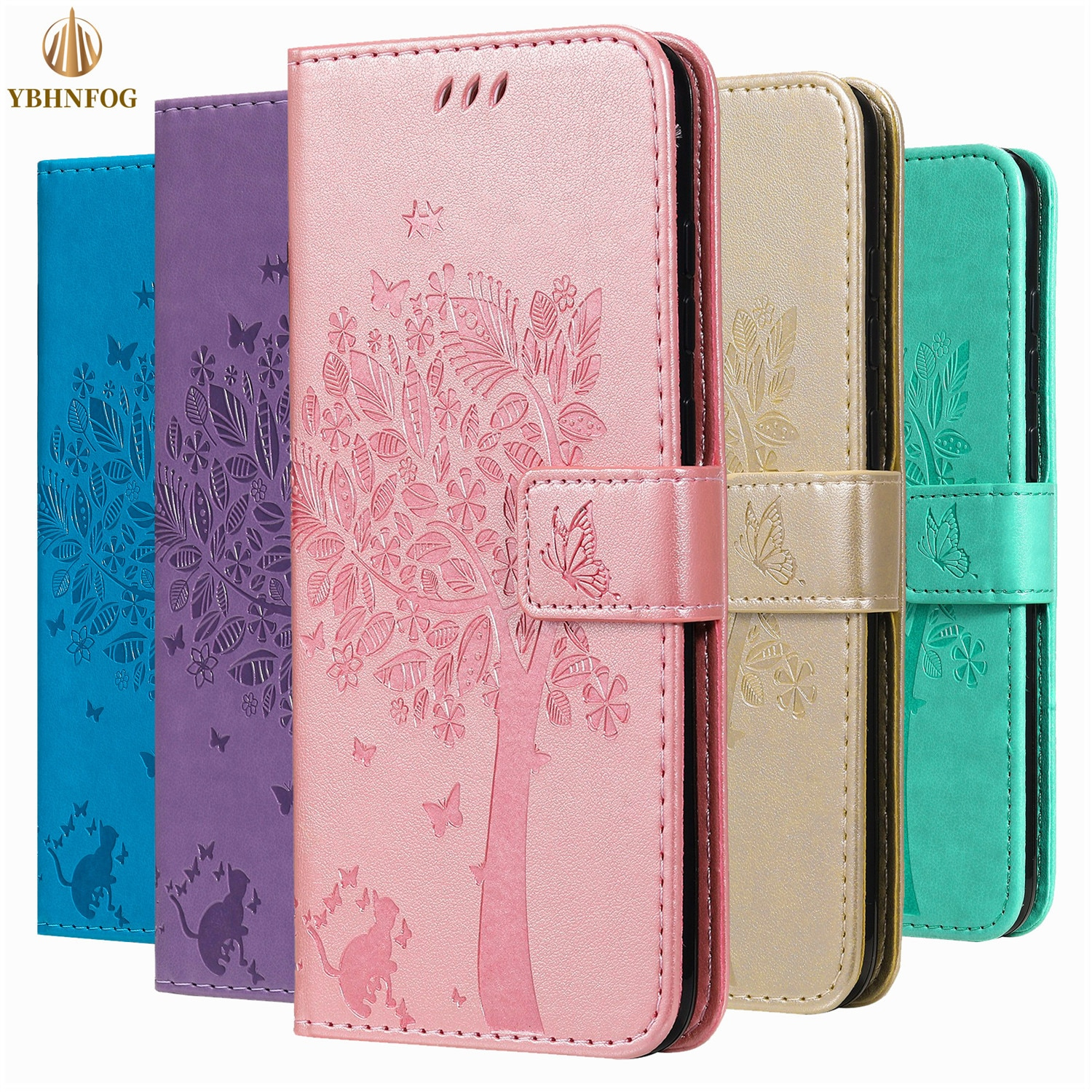 Flip Phone Case For Huawei P Smart 2019 Mate 7 8 9 10 20 Lite Mate 30 Pro Leather Holder Card Slot S