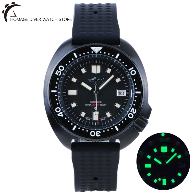 HEIMDALLR Sharkey SKX007 ساعة غواص خمر الميكانيكية الرجال الساعات 200 متر الياقوت مضيئة الطلب NH36 الحركة التلقائية الفاخرة