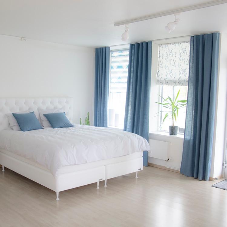 Cortinas de tul para dormitorio, sala de estar, diseño moderno, color sólido,...