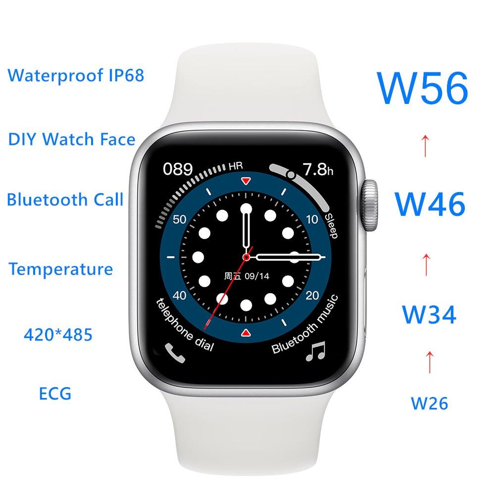 "IWO W56 Smartwatch IWO Smart Watch 2021 Men Women Bluetooth Call Body Temperature 1.75"" IP68 ECG PPG VS IWO 12 Pro 13 Series 6"
