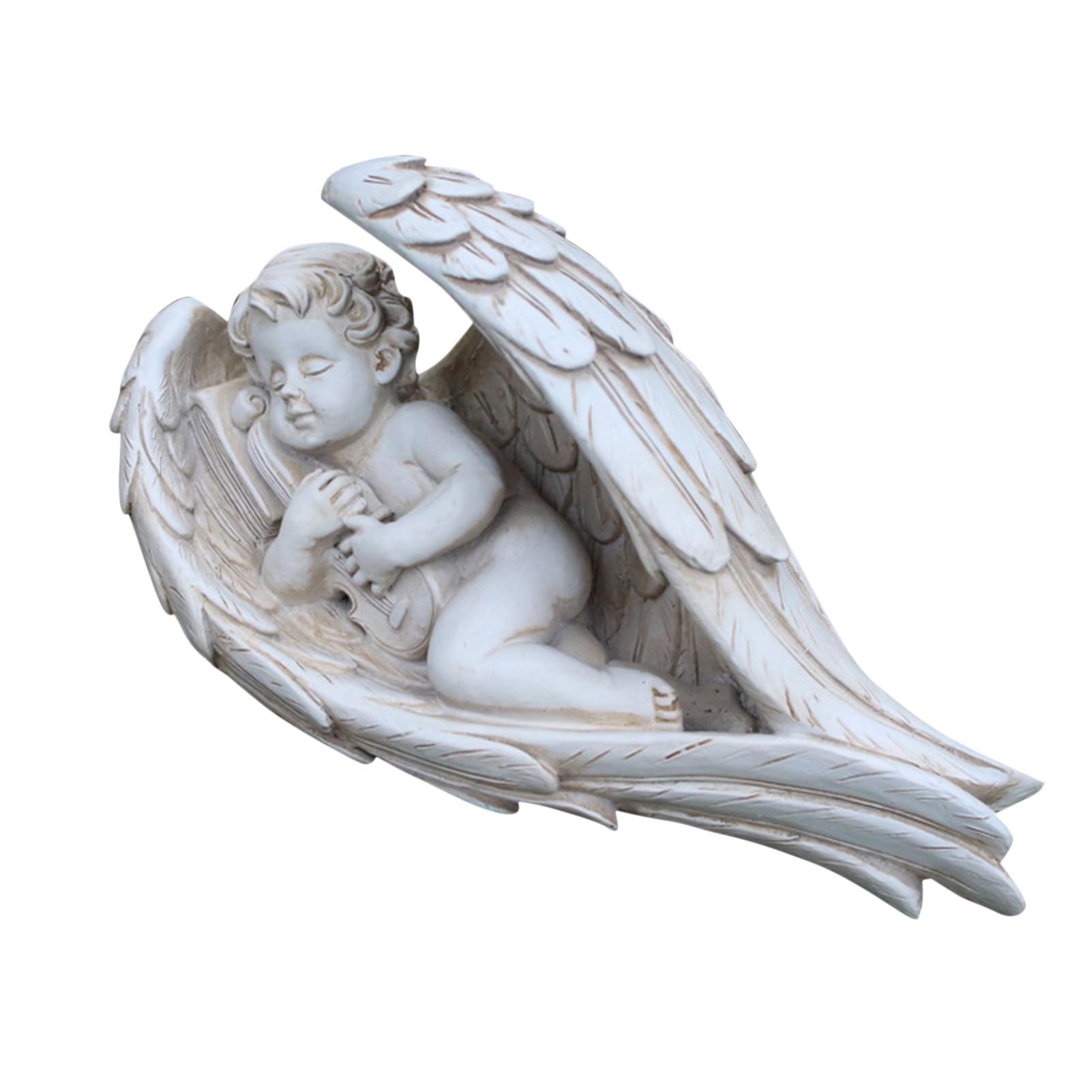 Resin Angel Boy Resin Craft Ornament Art Statue Indoor Living room Garden Lawn Decor Figurines Decoration Villa Park Sculpture