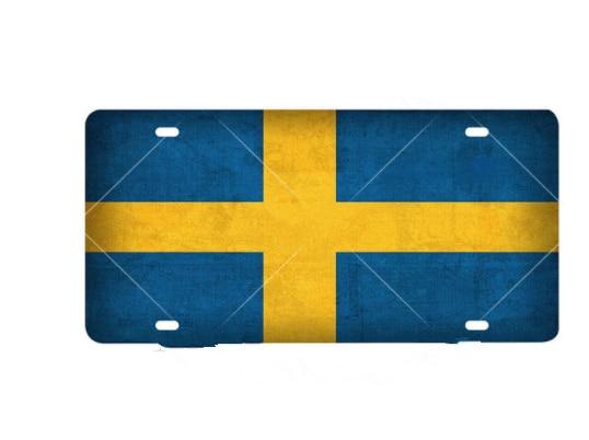 home decor Swede License Plate Metal Sign Vintage For Club Travel Poster Swede