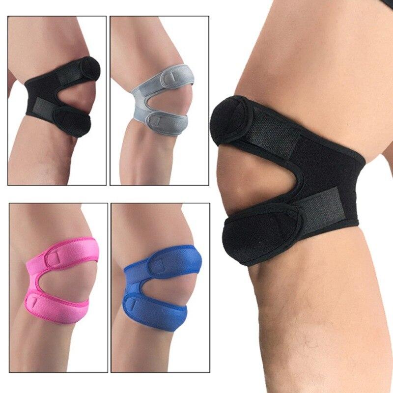 ¡En Stock! 1 ud. Almohadilla de soporte de rodilla deportiva manga de envoltura de Nylon neopreno transpirable Anti Bump Fitness ropa deportiva Protector de pierna #