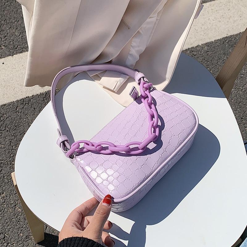 Bolsos de cuero de PU pequeño para mujer, 2020, diseño de piedra, bolsos de hombro y monederos, bandolera de viaje para mujer, bolso de mano de moda