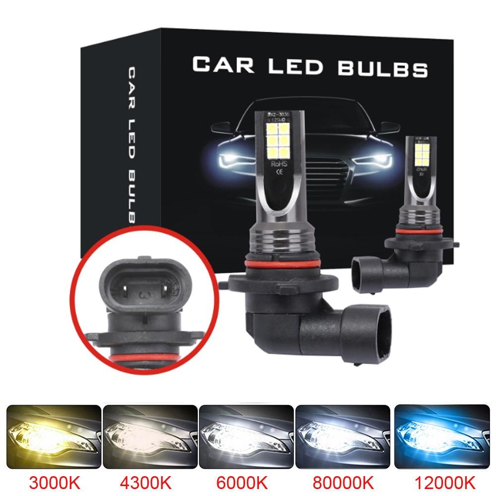 2Pcs LED Bulbs Super Bright 9005 HB3 H7 H1 H11 H8 H9 9006 HB4 H4 Auto Car Fog Signal Turn Light Driving Lamp White Amber Blue