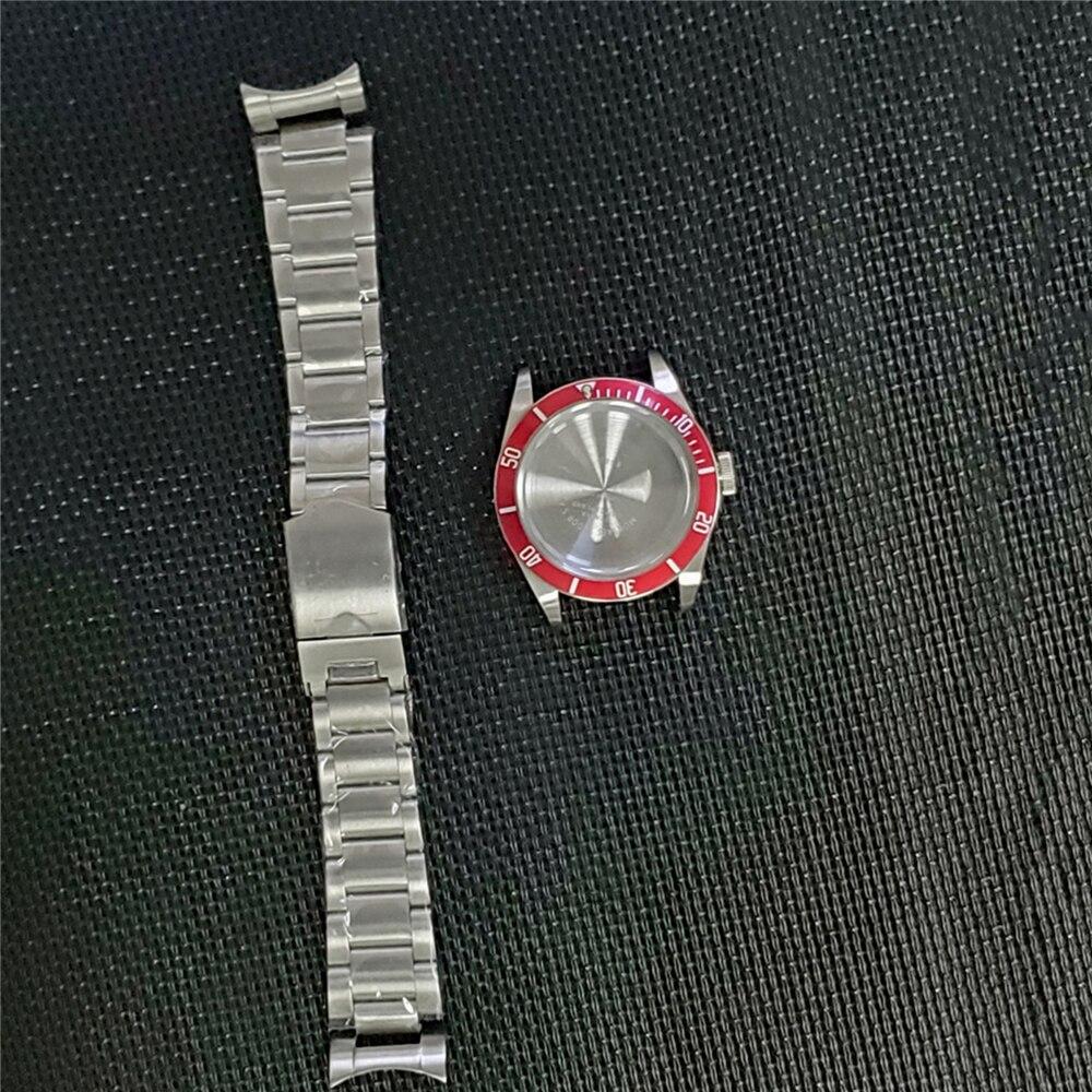 Moldura de Alumínio Kit para Nh35 Anel Inoxidável Relógio Case Pulseira Assista Movimento Peças Reparo 41mm Aço