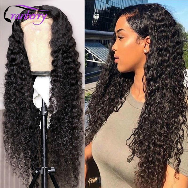חמוציות שיער עמוק גל פאה 360 תחרה פרונטאלית פאה עבור נשים 100% רמי אדם תחרה קדמי שיער טבעי פאות ברזילאי שיער פאת לשקע