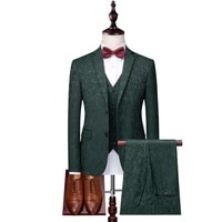 mens suit fashion slim print mens suit 3 piece set blazer pants vest %d0%ba%d0%be%d1%81%d1%82%d1%8e%d0%bc wedding groom groomsmen dress costume homme