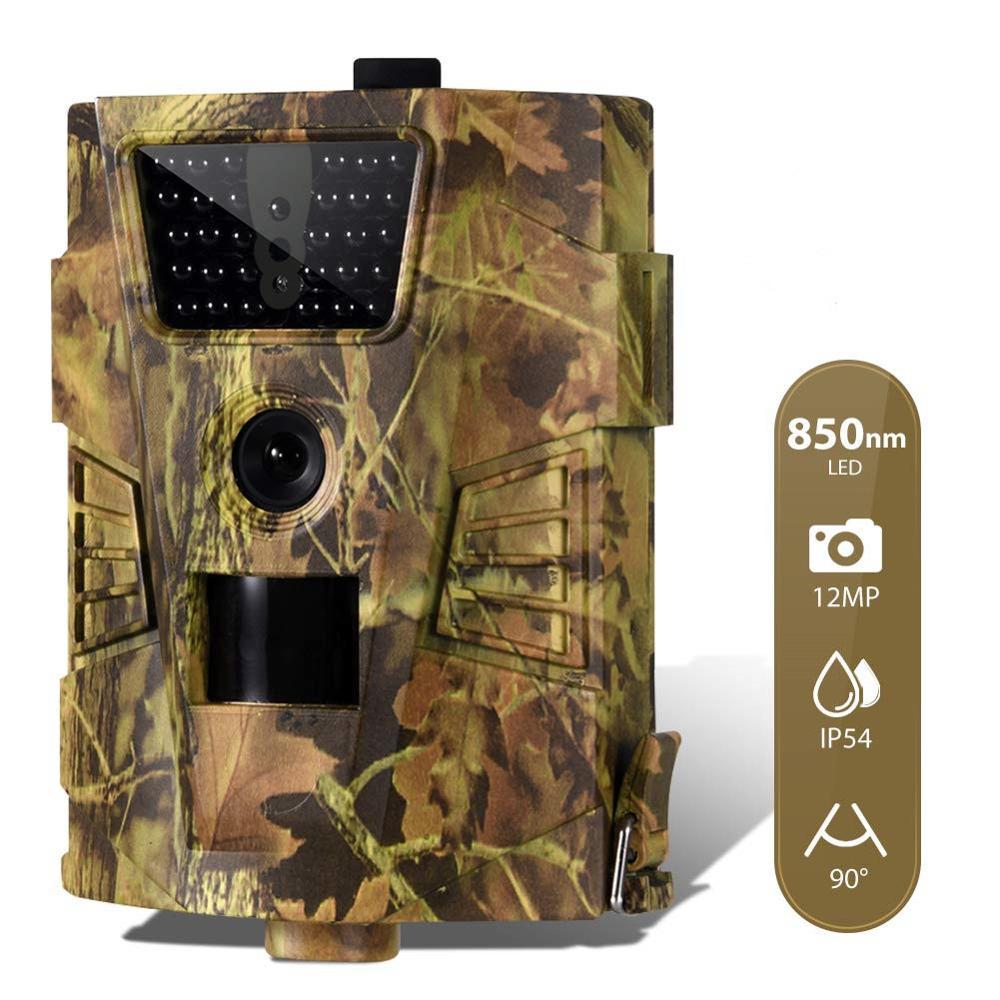 12MP 1080P درب الصيد كاميرا البرية المراقبة HT001B النسخة الليلية الحياة البرية الكشافة كاميرات صور الفخاخ المسار
