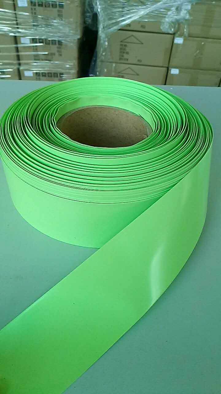 Tubo Termocontraíble de PVC de 1m materiales de aislamiento electrónico verde claro para películas para batería Lipo 40/55/63/86/95/125mm de ancho
