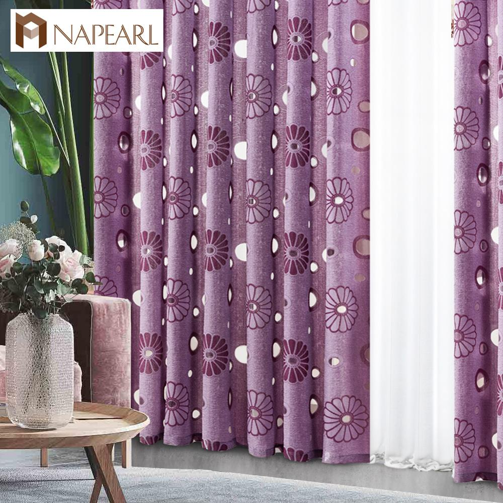 Napearl 1 peça floral moderna cortina de decoração para casa sala estar cortinas da janela preto tratamentos prontos cozinha do quarto
