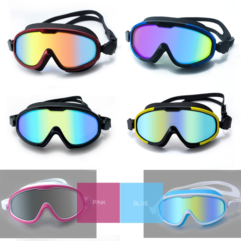 Waterproof Swimming Goggles Eye Protection Flat Goggles Large Frame High-definition Waterproof And Anti-fog Anti-fog UV Goggles