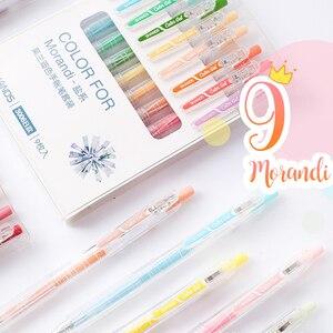 Juice Colors Retractable Gel Pen Set 0.5mm Caneta Gel Kawaii School Supplies Bullet Journal Pens Cute Student Stationary Kalem