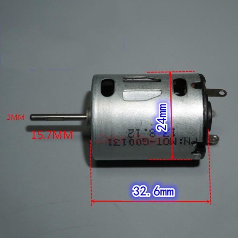Micro Mini RK-280 Motor DC 3,7 V 4,2 V 6V 7,4 V 38000RPM de alta velocidad 15mm Eje largo cepillo de carbono Motor DIY modelo de juguete