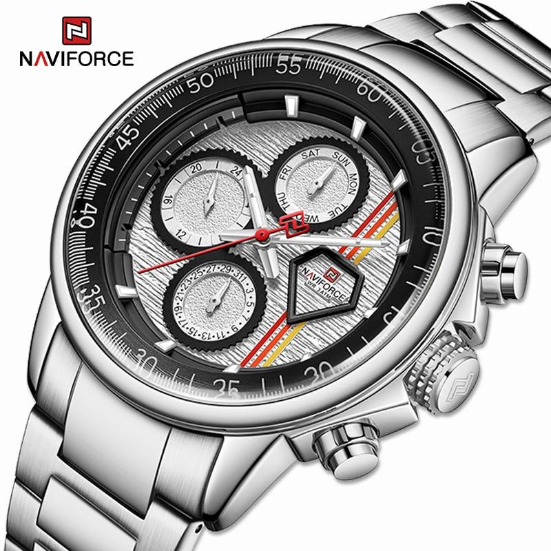 NAVIFORCE Luxury Brand Mens Watches Multi-function Auto Date Waterproof Clock Fashion Casual Quartz Wristwatch Relogio Masculino