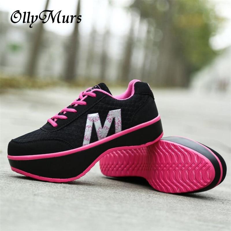 Mulheres slimming sapatos stovepipe corpo escultura vulcanizada sapatos ortopédicos sapatos de salto negativo tênis zapatillas mujer casual