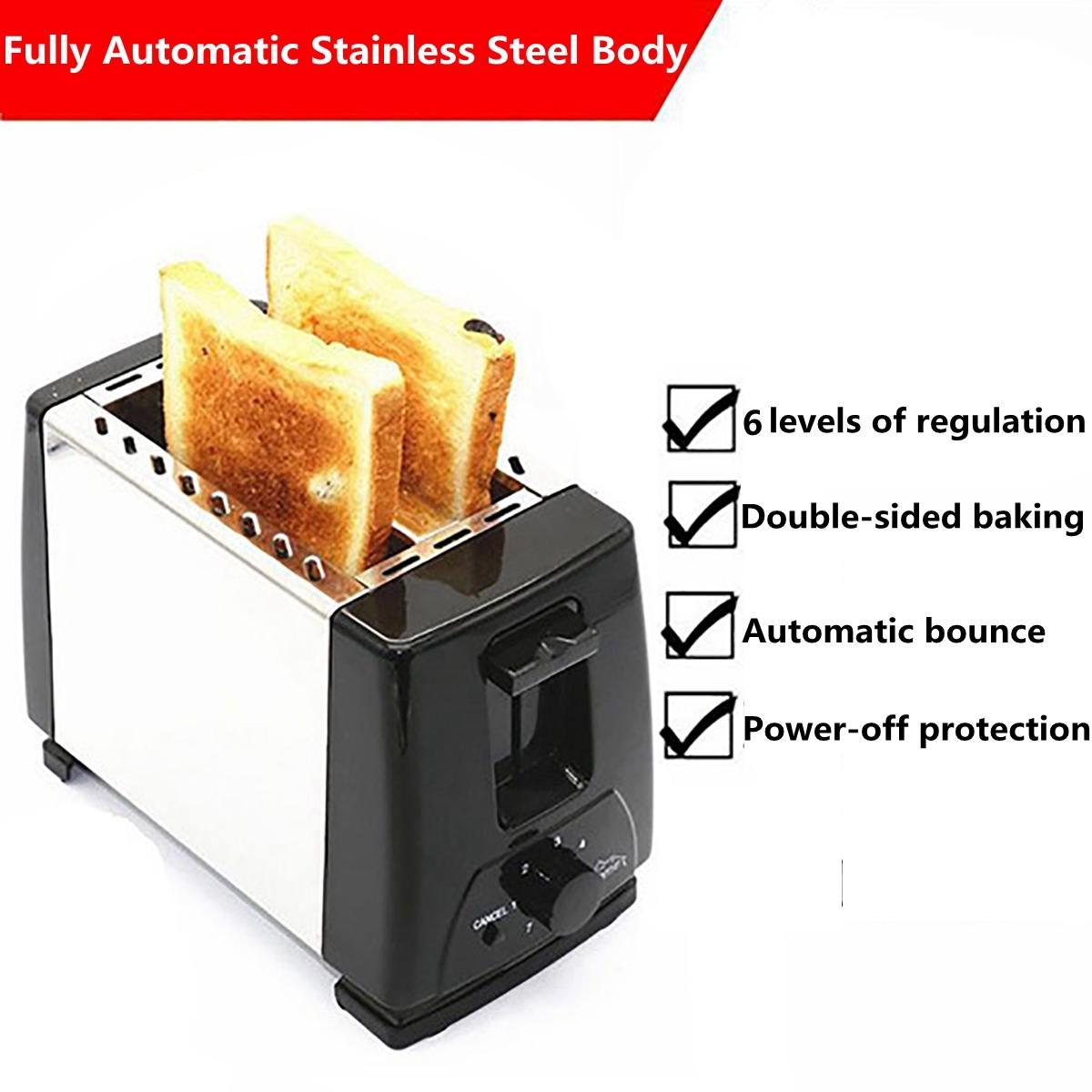750W 220V тостер хлеба тостеры печь выпечки кухонная техника тостов машина завтрак сэндвич быстро защитный чайник