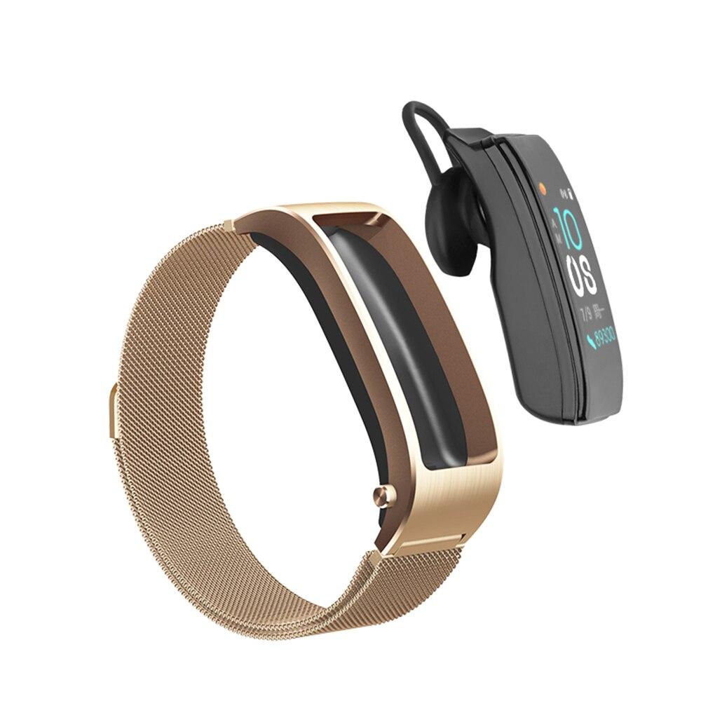 B5s Bluetooth earphone wireless earbud smart headset watch with microphone Smart Bracelet Waterproof touch screen music play