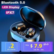 A7S TWS 5.0 Bluetooth Earphones Wireless Headphones IPX7 Waterproof Headset LED Power Display 9D Stereo Sport Gaming Earbuds