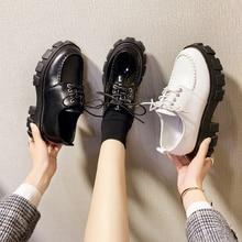 Cootelli-chaussures à plateforme pour femmes, à talons plats, chaussures tendance pour femmes, basiques, noires, collection à lacets