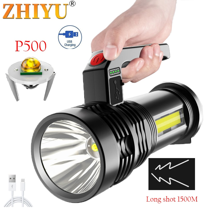 Portable Ultra-Bright Hand Lamp Powerful Light COB Side Light Floodlight USB Rechargeable Outdoor Se