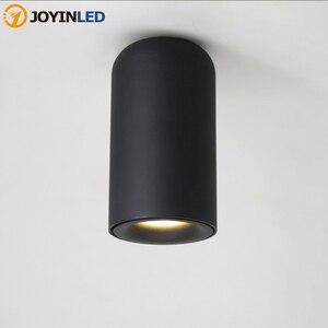 JOYINLED Nordic LED Downlight Surface Mounted Ceiling Light Lamp AC85-260V White/Black CylindSpot Light For Living Room Hallway